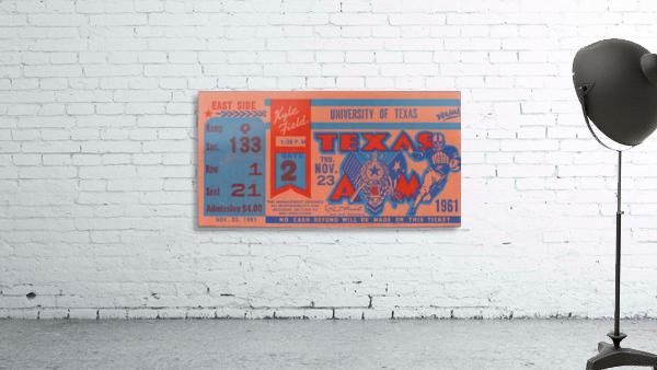 1961 texas am aggies football ticket wall art