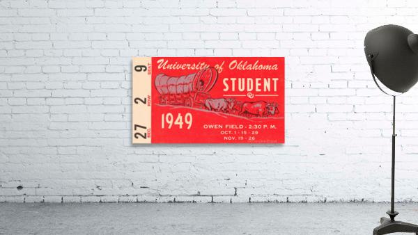 1949 oklahoma sooners football student season ticket art ...