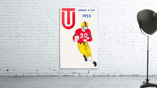 1955 university of tulsa football poster