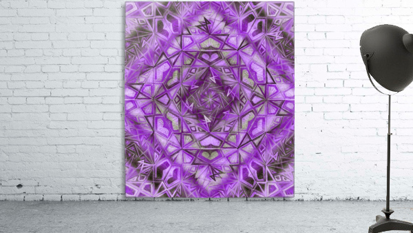 Purple Fractal Kaleidoscope Handdrawing