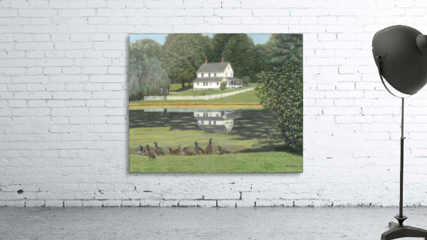 Geese at Hawley Pond - Newtown Series 16X20