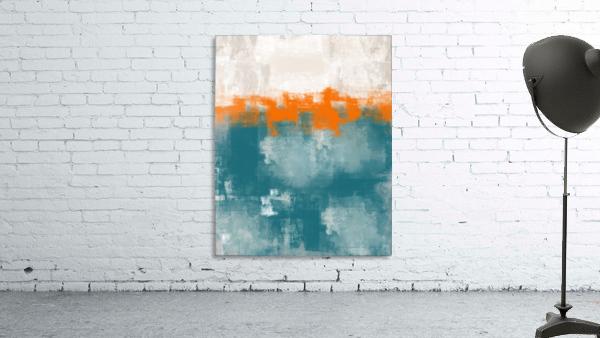 Blue Gray Orange Abstract DAP 20014