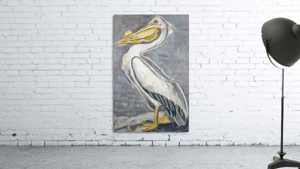 Louisiana White Pelican with Metallic Silver