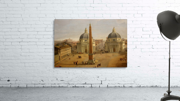 Veduta di Piazza del Popolo a Roma