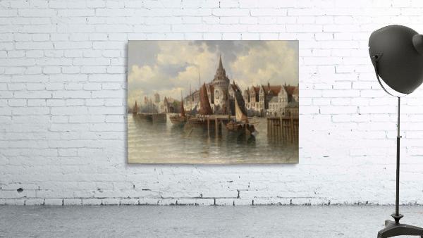 Blick auf eine Hafenstadt