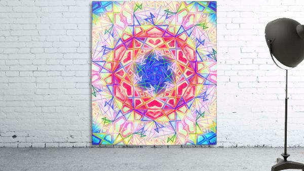 Psychedelic Art Hexagon Mandala Handdrawing