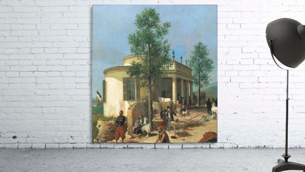 Zouave camp on Brescia city walls in June 1859