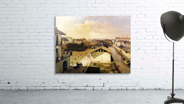 Veduta del Naviglio di San Marco dalla terrazza di Ca Medici, Milano, 1837