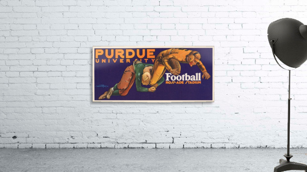 1929 purdue football art