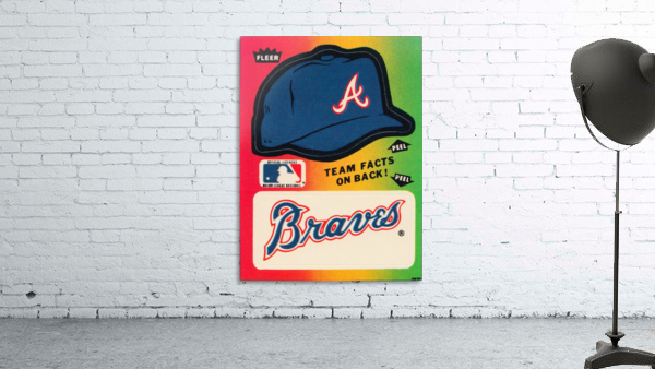 1983 Atlanta Braves Fleer Decal
