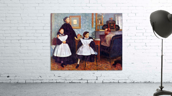 Portait of the Bellelli family by Degas