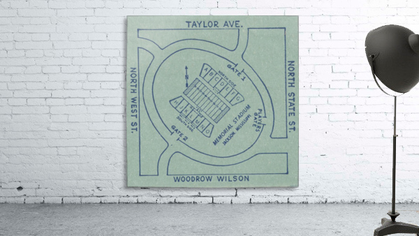 1956 Memorial Stadium Map Jackson MS