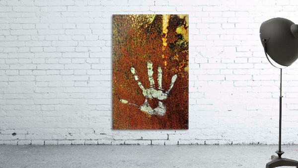 Rusty Door Hand Print