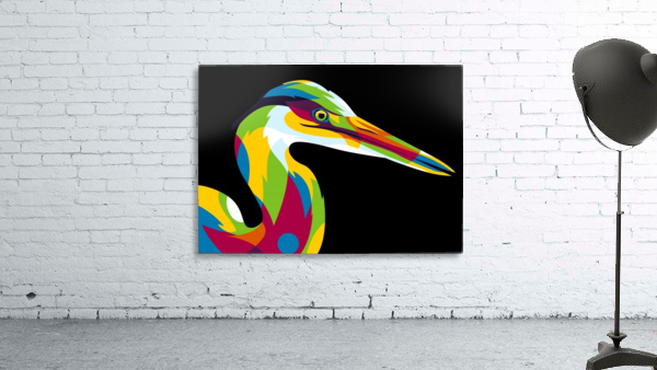 Great Heron in Pop Art Style