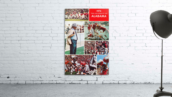 1974 Alabama Football Print
