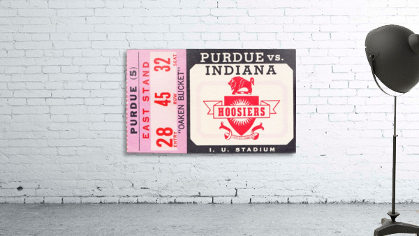 Vintage Indiana Hoosiers Football Ticket Stub