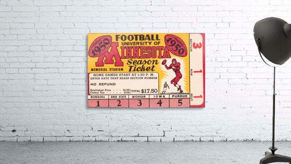 1950 University of Minnesota Season Ticket