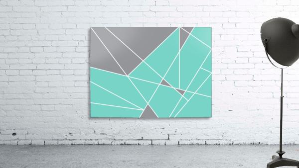 Gray Teal Triangles Geometric Art GAT101-3