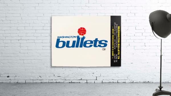 1979 Washington Bullets Fleer Decal