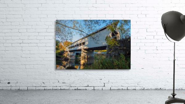 Mechanicsville covered bridge over Grand River Ohio