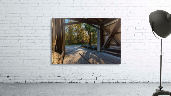 Portal of Mechanicsville covered bridge Ashtabula County Ohio