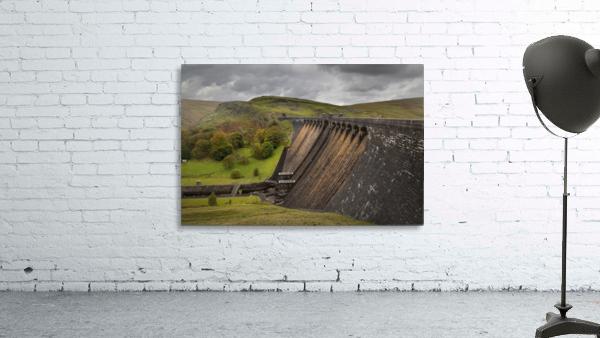 The Claerwen reservoir dam in Powys