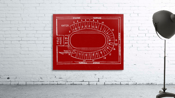 1957 camp randall map art