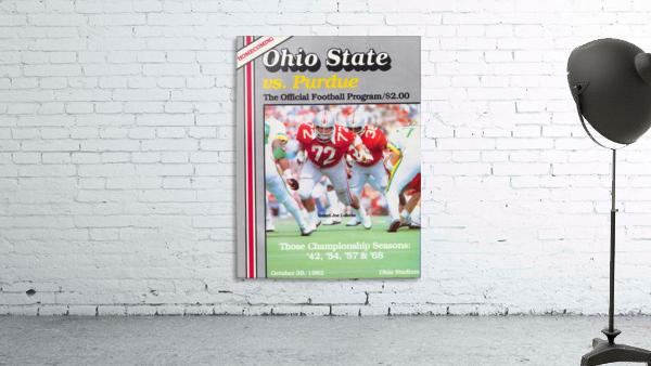 1982 Ohio State vs. Purdue Program Cover Art