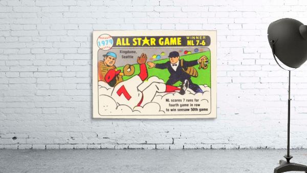 1979 All Star Game Baseball Art