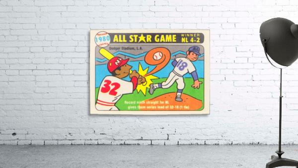1980 Baseball All Star Game Art
