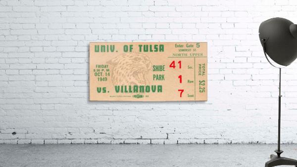 1949 Tulsa vs. Villanova Football Ticket Stub Wall Art