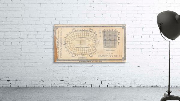 1933 LA Coliseum Map Art