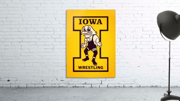 Vintage Iowa Wrestling Art