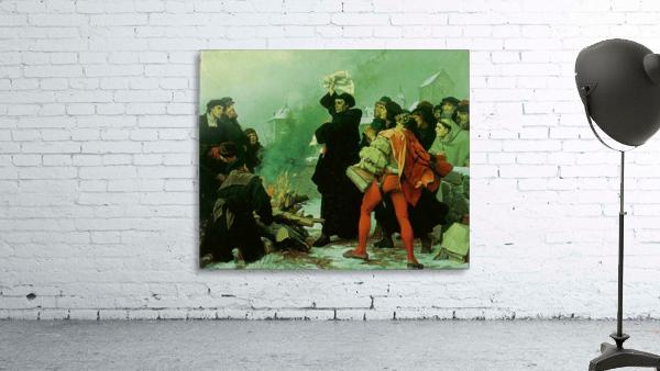 Luther verbrennt die Papstbulle