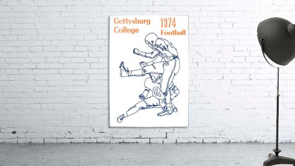 1974 Gettysburg College Football Art