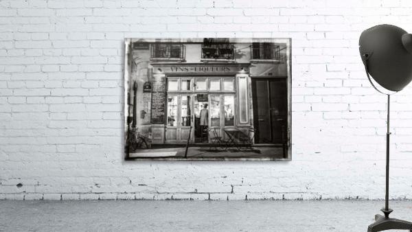 Cafe on street of Montmartre, Paris