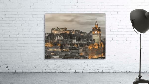 Edinburgh Castle and The Balmoral Hotel, Scotland