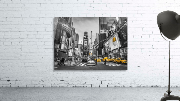 Traffic signal on broadway Times Square,  Manhattan, New York City