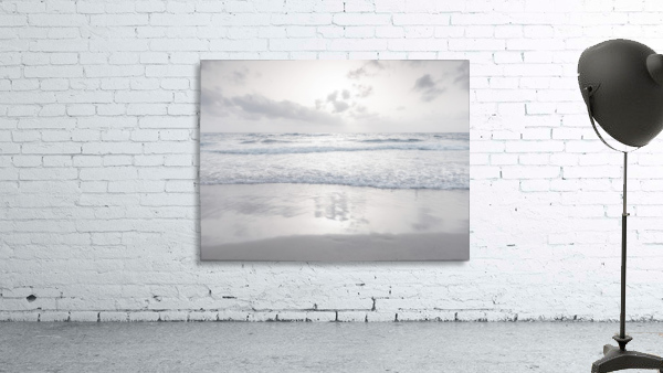 Tranquil beach with cloudscapes
