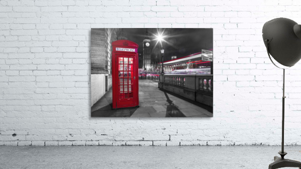 Telephone box with Big Ben, London, Uk