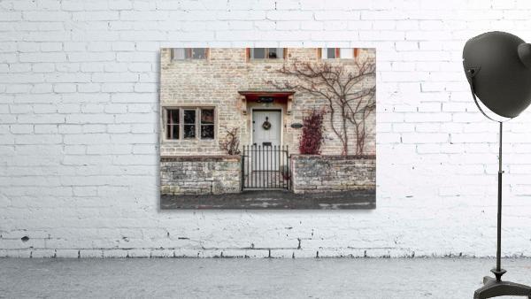 Front door of old cottage in Bibury,  Cotswold, UK
