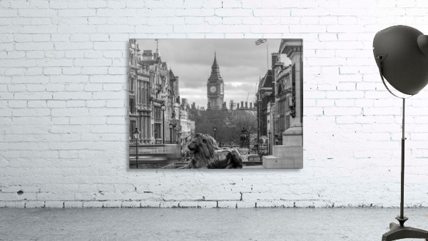 Trafalgar Square with Big Ben in background