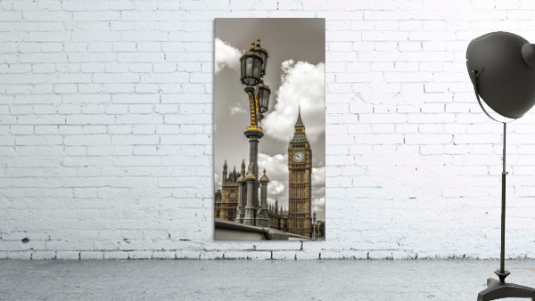 Street lamp with Big Ben in background, London, UK