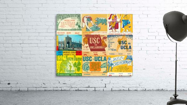 USC Trojans Football Ticket Stub Collage