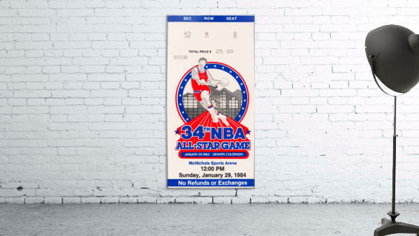 1984 NBA All-Star Game Ticket
