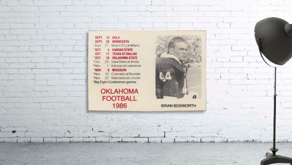 1986 Oklahoma Football Brian Bosworth