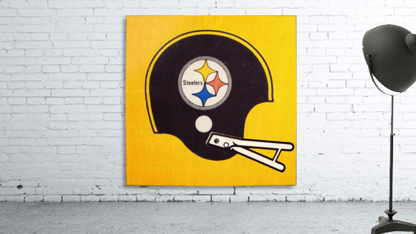 Vintage Pittsburgh Steelers Football Helmet Art