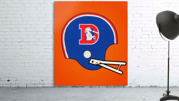 1982 Denver Broncos Football Helmet Art