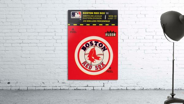 1981 Boston Red Sox Fleer Decal Art