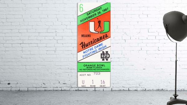 1987 Miami vs. Notre Dame